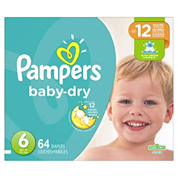 c8c1c754c18 Image Unavailable. Image not available for. Color  Pampers Baby-Dry  Disposable Diapers Size 6