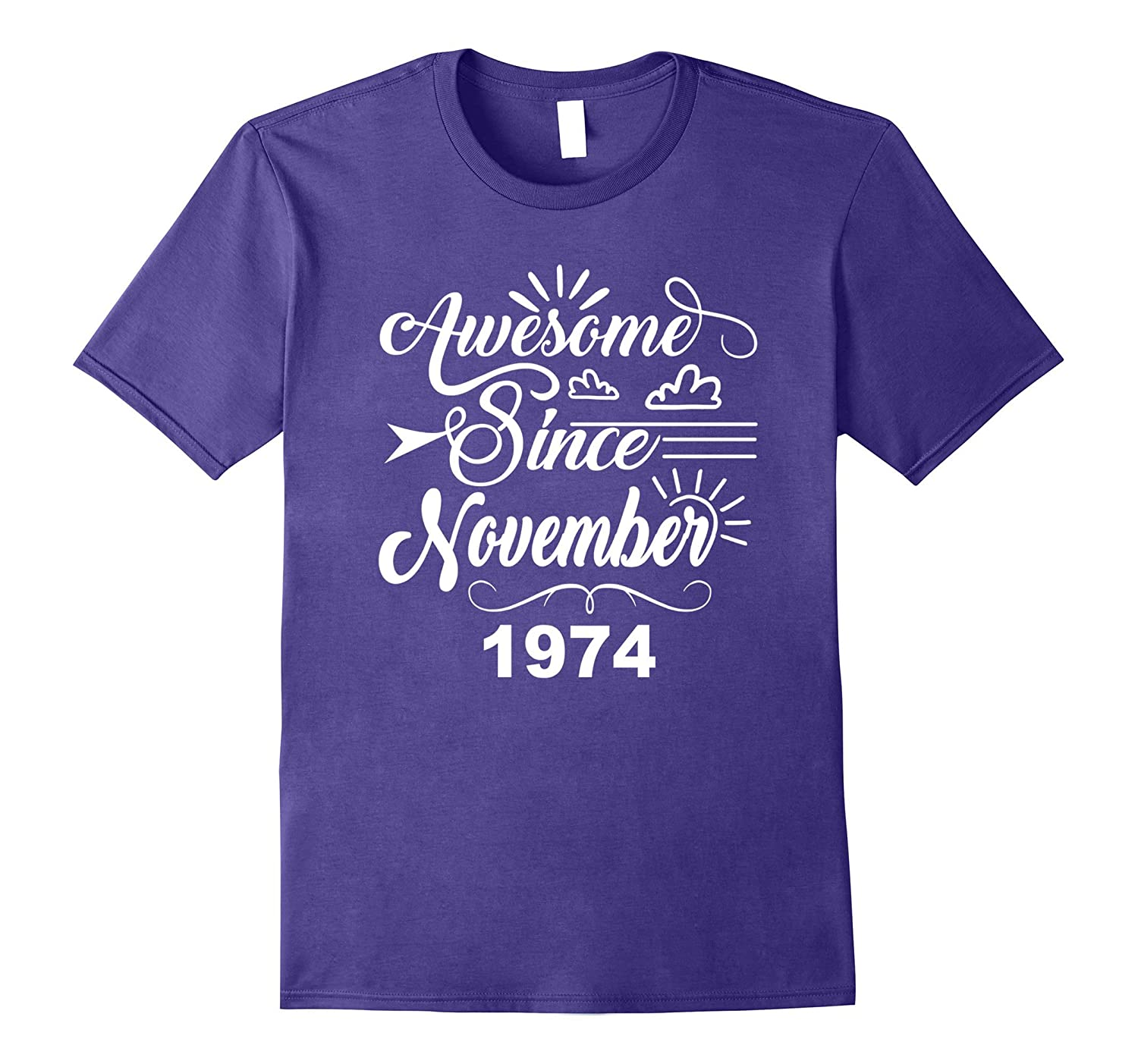 43rd Birthday Gifts - Awesome Since November 1974 T-shirt-FL