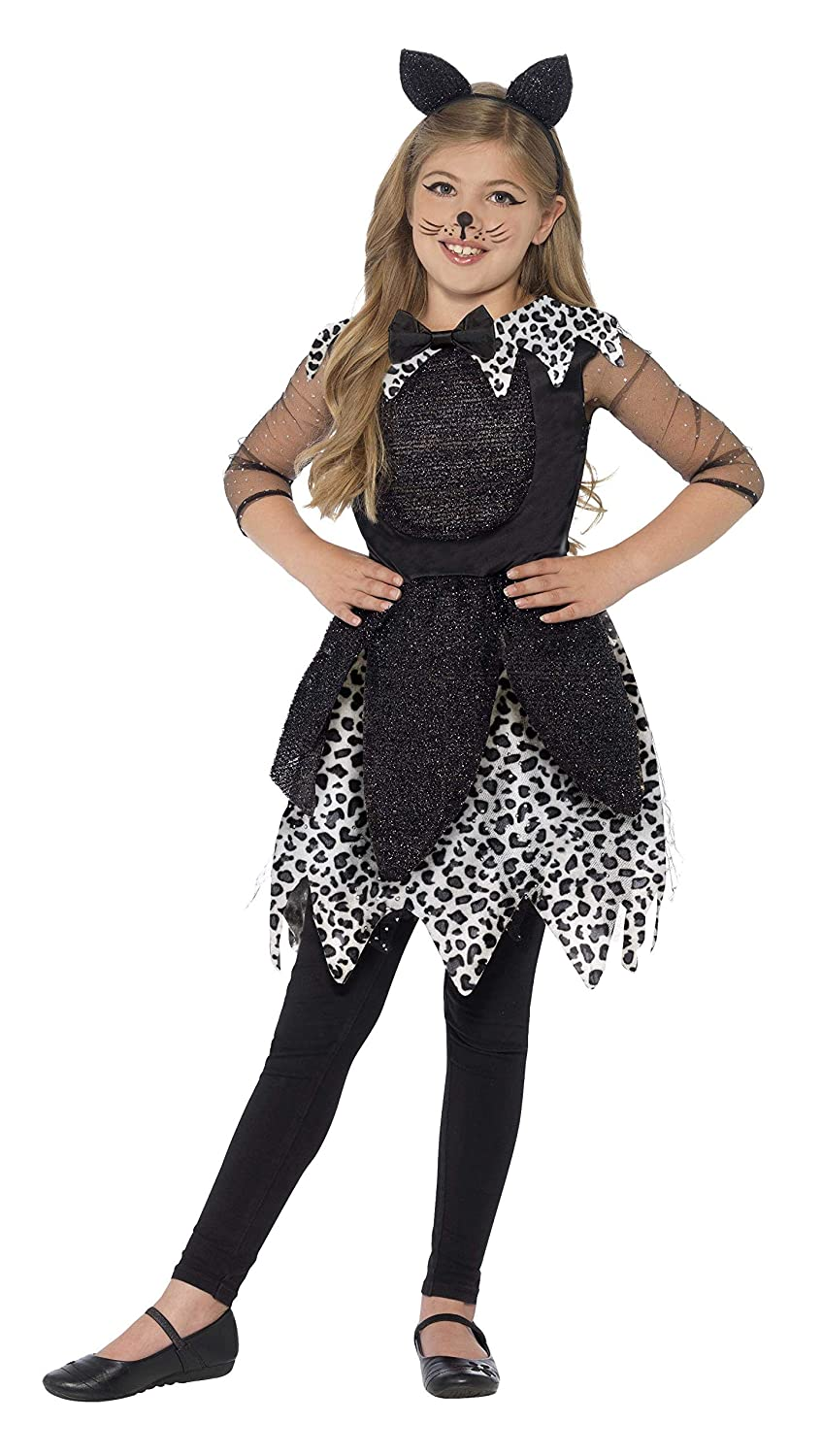 Amazon.com: Smiffys Girls Deluxe Black Midnight Cat Halloween Fancy Dress Costume: Toys & Games