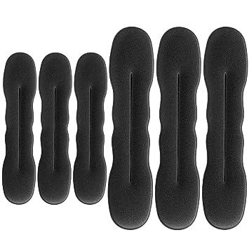 Amazon.com: 6 piezas para hacer moños de pelo, soporte de ...