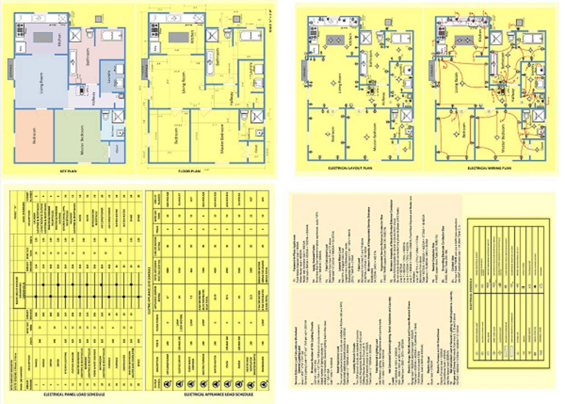 Residential Electrical Wiring Diagrams Sample House Plan Layouts And Calculations Itech Tools 0719279145267 Amazon Com Books