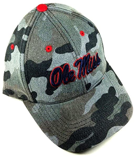 805ceb7eb6200 Image Unavailable. Image not available for. Color  Warrior Ole Miss Rebels  Grey Camo Adjustable Hat
