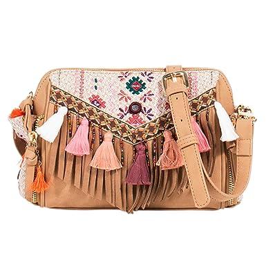 Einkaufstasche Folky Rose - Damen - Größe M - Ecru Parfois IdcSw