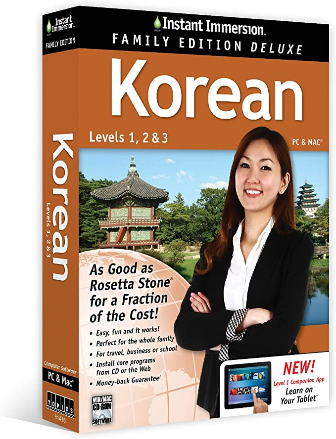 KOREAN Instant Immersion  1,2,3 Family Edition Deluxe NEW!!