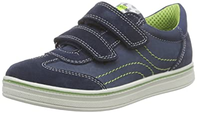 Lurchi Travis II, Sneakers Basses Garçon - Bleu - Blau (Navy 22), 34