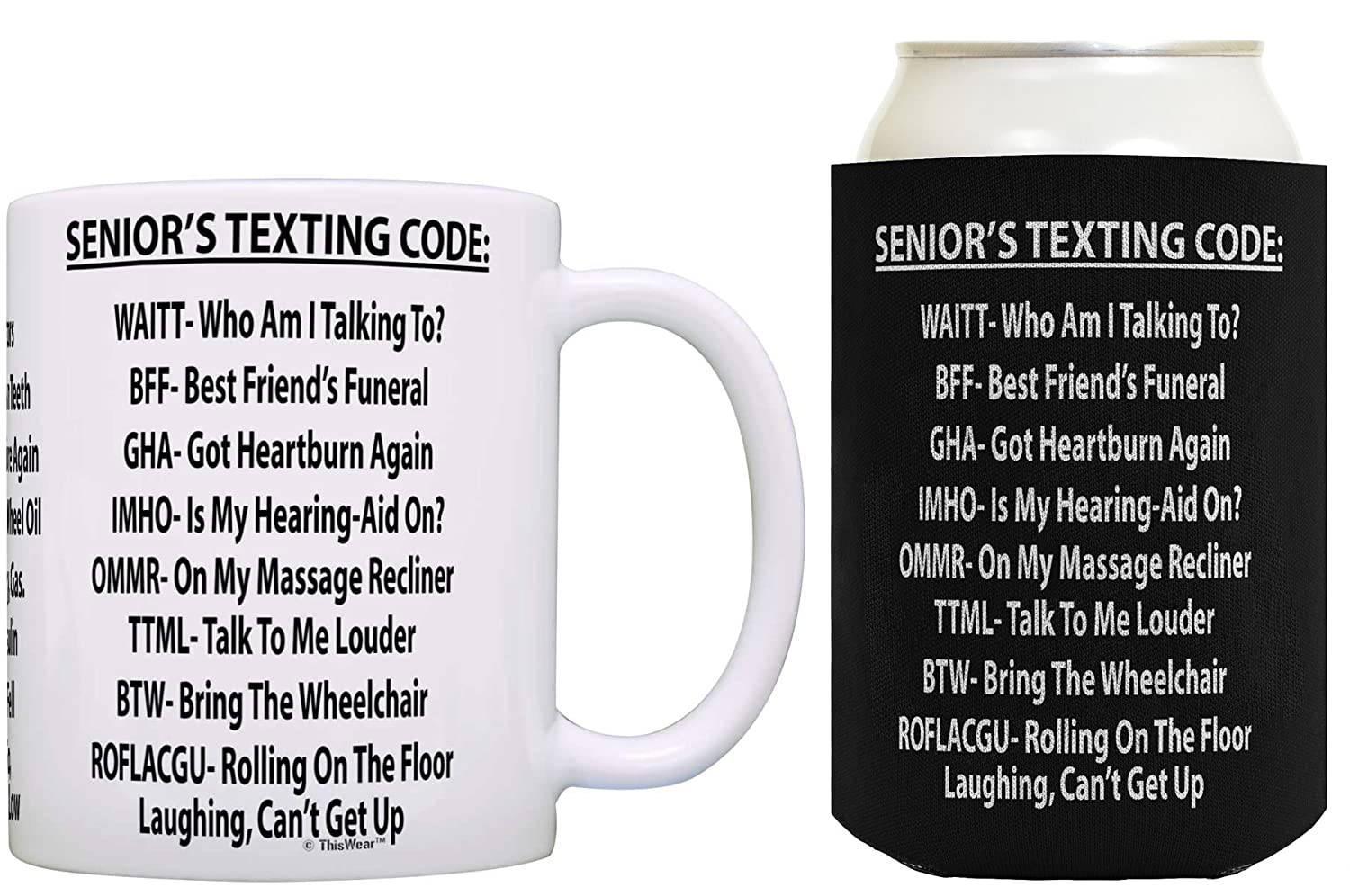 Amazon Retirement Gifts For Men Seniors Texting Code Funny Dad Or Grandpa Birthday Coffee Mug Can