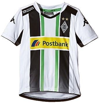 Kappa BMG - Camiseta de fútbol (manga corta), diseño del Borussia Mönchengladbach blanco