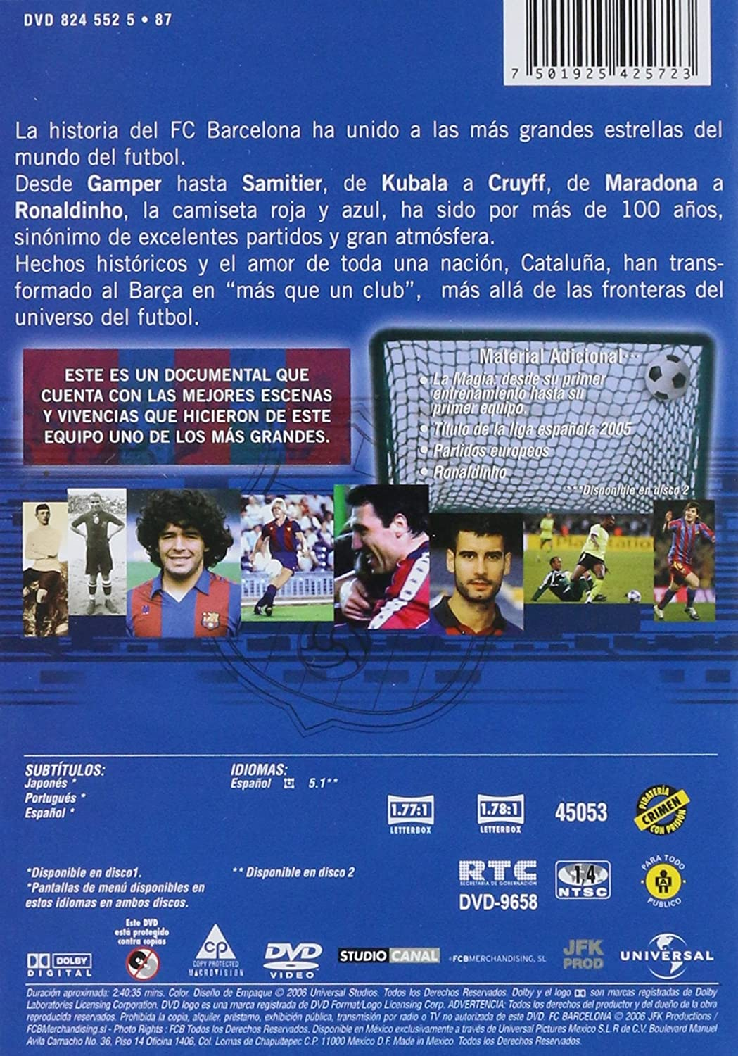 Amazon.com: FC Barcelona-Mas Que un Club [NTSC/REGION 1 & 4 DVD. Import-Latin America] (Subtitles: Japanese, Portuguese): Movies & TV