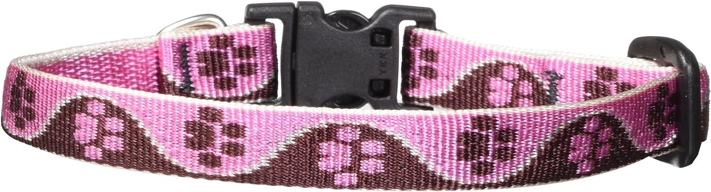 Lupine 1/2 inch Tickled Pink Adjustable Dog Collar