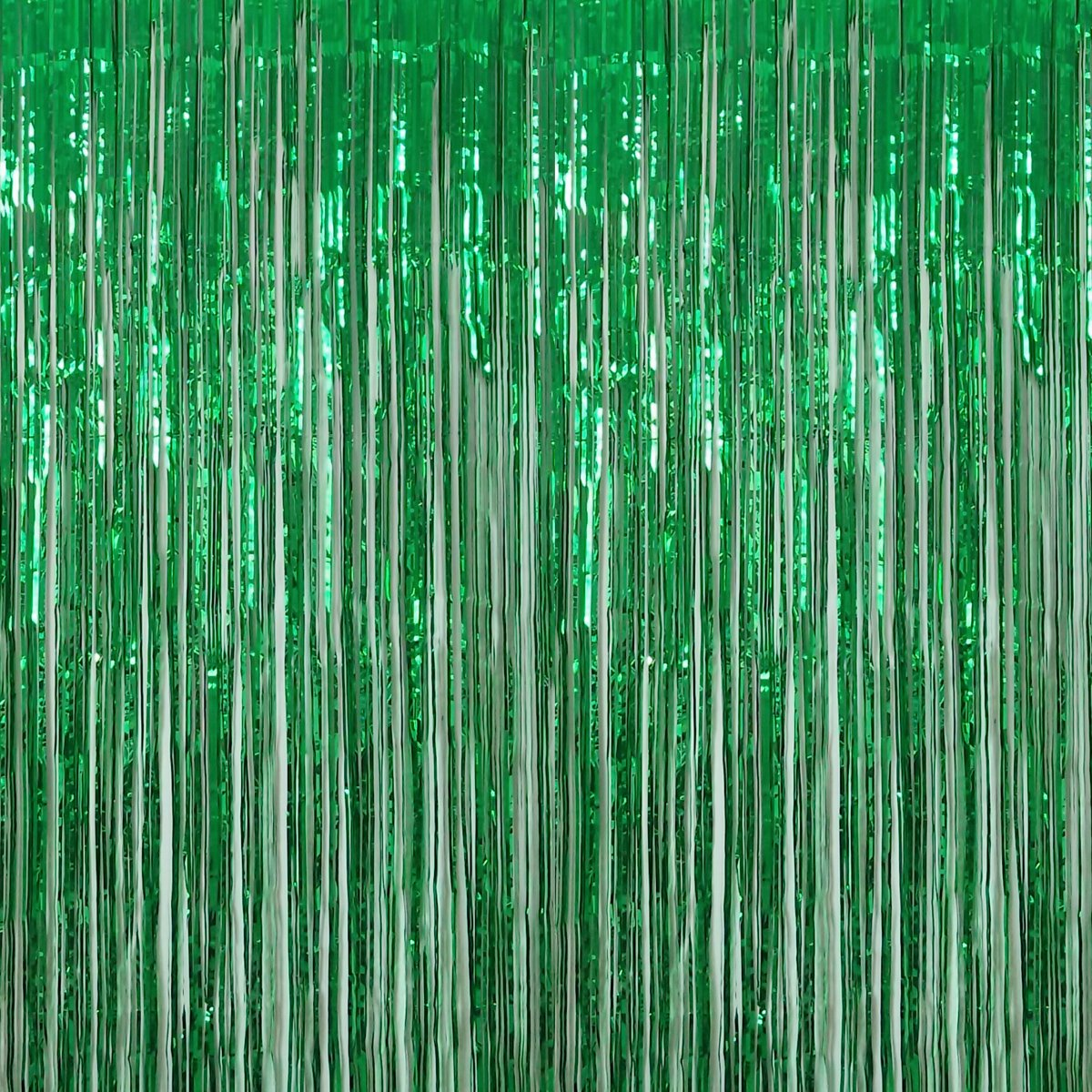 Anhoo 3.2 ft x 9.8 ft Metallic Tinsel Foil Fringe Curtains for Party Photo Backdrop Wedding Event Decoration (Green,3 pcs) by Anhoo
