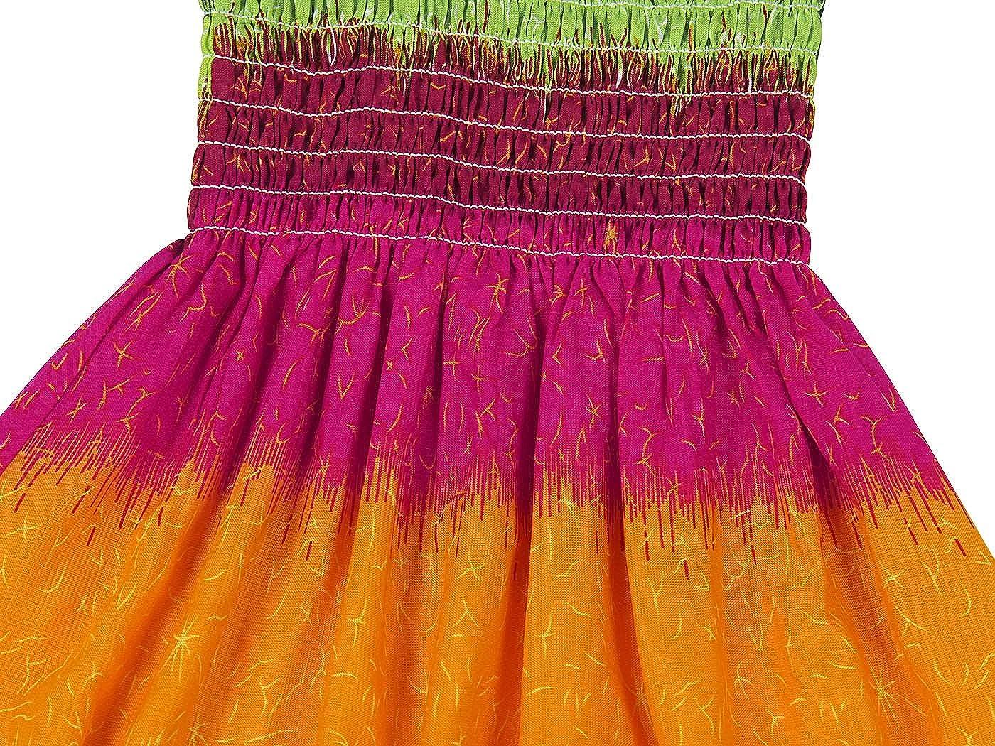 Jurebecia Floral Boho Dress Summer Girls Off Shoulder Rainbow Beach Dresses Halter Casual Sundress
