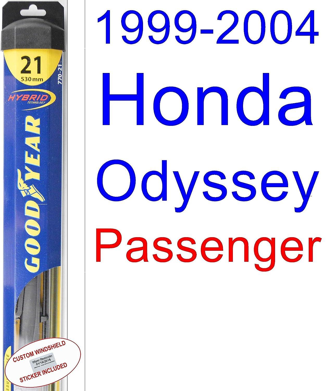 Amazon.com: 1999-2004 Honda Odyssey Wiper Blade (Rear) (Goodyear Wiper Blades-Hybrid) (2000,2001,2002,2003): Automotive