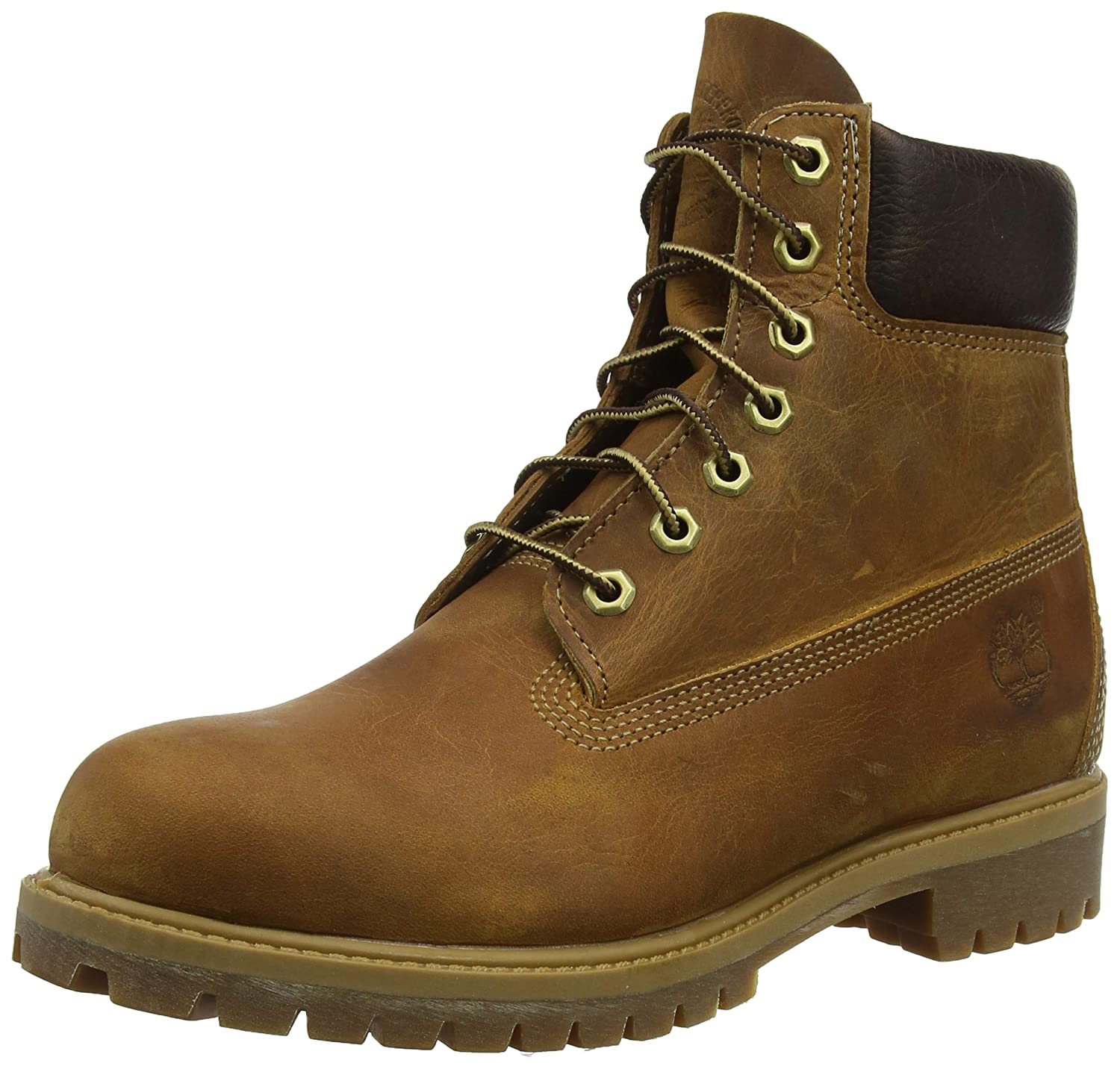 Timberland Herren Heritage 6 Inch Premium Stiefel, Braun (Brown Burnished Full Grain), 50 EU