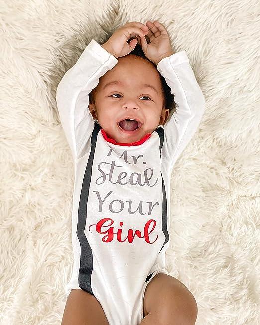 Mr Steal Your Girlbaby shower giftbaby boybaby clothingbaby bodysuitnewborn babycute baby clothingValentine/'s Day