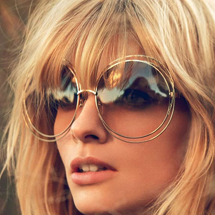e010380fe9 Amazon.com  Big Round Oversized Double Wire Rim Sunglasses Metal Frame Retro  XXL Shades  Shoes