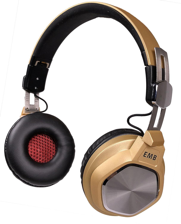 EMB ebh712-g Bluetoothヘッドホン、Hi - Fiステレオセット、折りたたみ式withソフトメモリProtein Earmuffs、のマイク内蔵ハンズフリー通話   B0791NL2W7