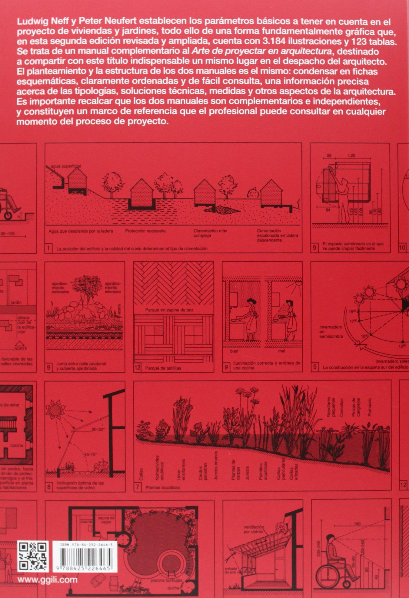 Casa Vivienda Jardín El Proyecto Y Las Medidas En La Construcción Spanish Edition Neufert Peter 9788425226465 Books