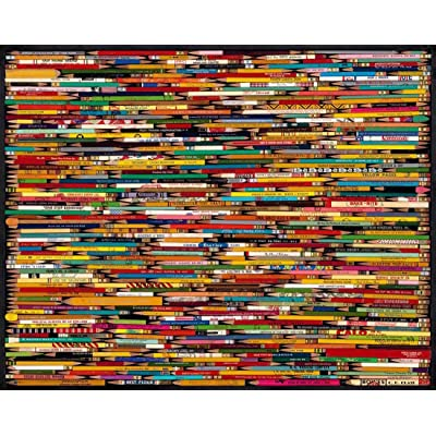 White Mountain Puzzles Pencil Collage - 1000 Piece Jigsaw Puzzle: Toys & Games