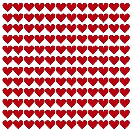 Kleberio 330 Adhesivas Corazones Color Rojo Tamaño 10 Mm Corazón