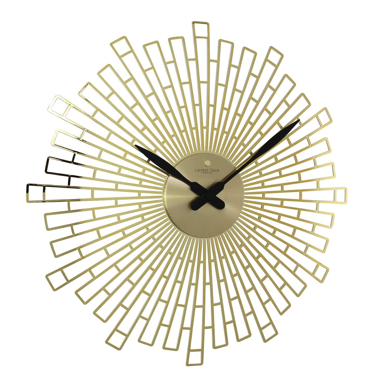 Decorative Wall Clock Colour Gold Amazon Kitchen & Home