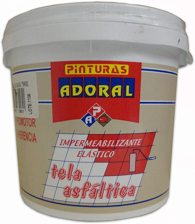 ADORAL - Pintura tela asfáltica imperrex 3,5 l. Rojo: Amazon.es: Bricolaje y herramientas