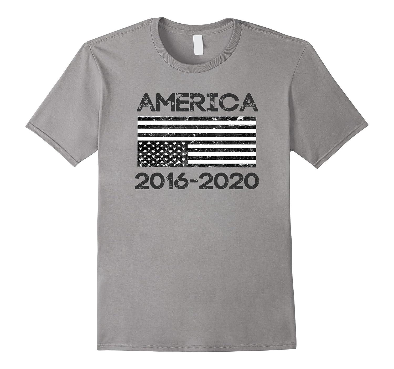 Vintage Distressed American Flag Anti-Trump America T-Shirt-CD