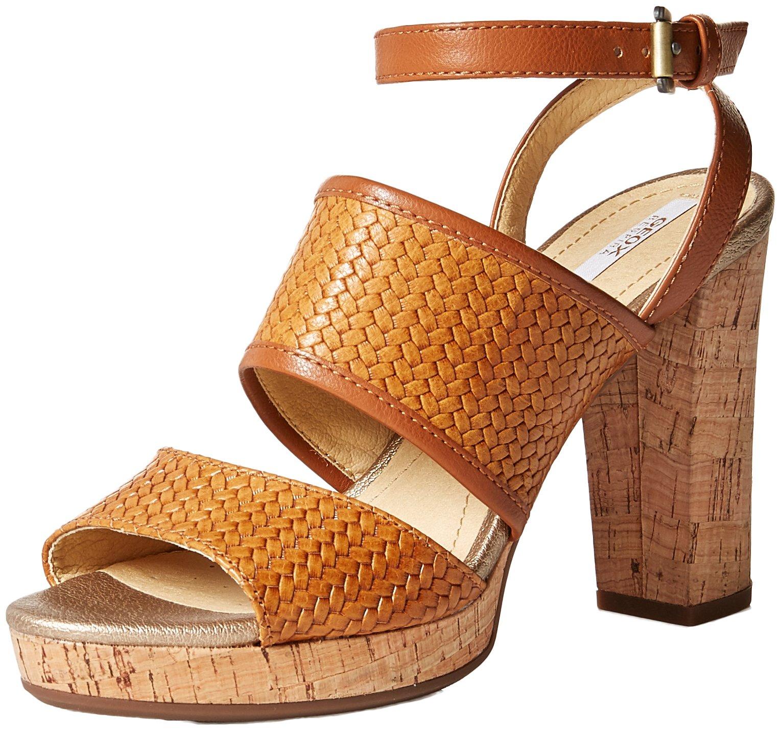 Geox Women's Mauvelle 6 Heeled Sandal, Caramel, 36 M EU (6 US)