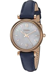 Fossil Women's Quartz Watch analog Display and Leather Strap, ES4502