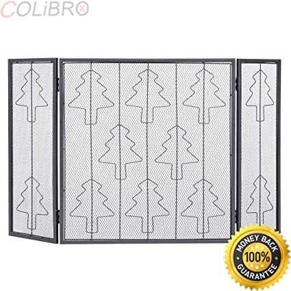 amazon com colibrox folding 3 panel steel fireplace screen doors rh amazon com buy fireplace screen buy fireplace screen canada