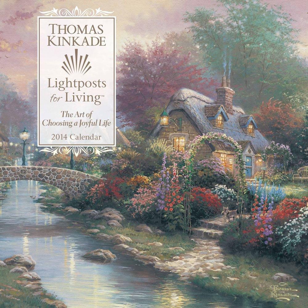 thomas kinkade lightposts for living 2014 wall calendar