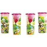 Signoraware Ice Candy Plastic Tumbler, 500ml, Set of 4, Pink