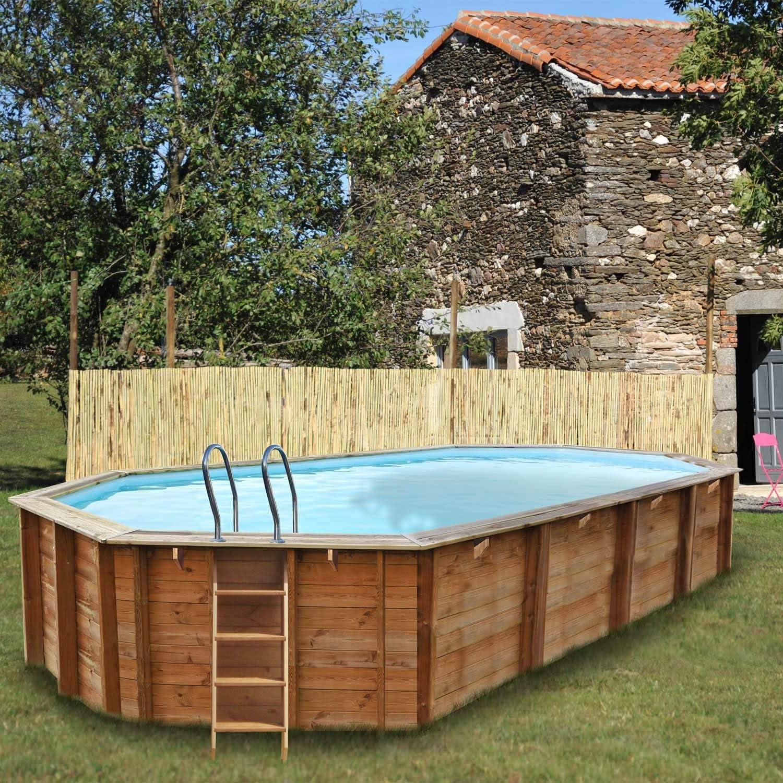 SunBay - Piscina de madera Sevilla 8, 72 m x 4, 72 m x 1, 46 m ...