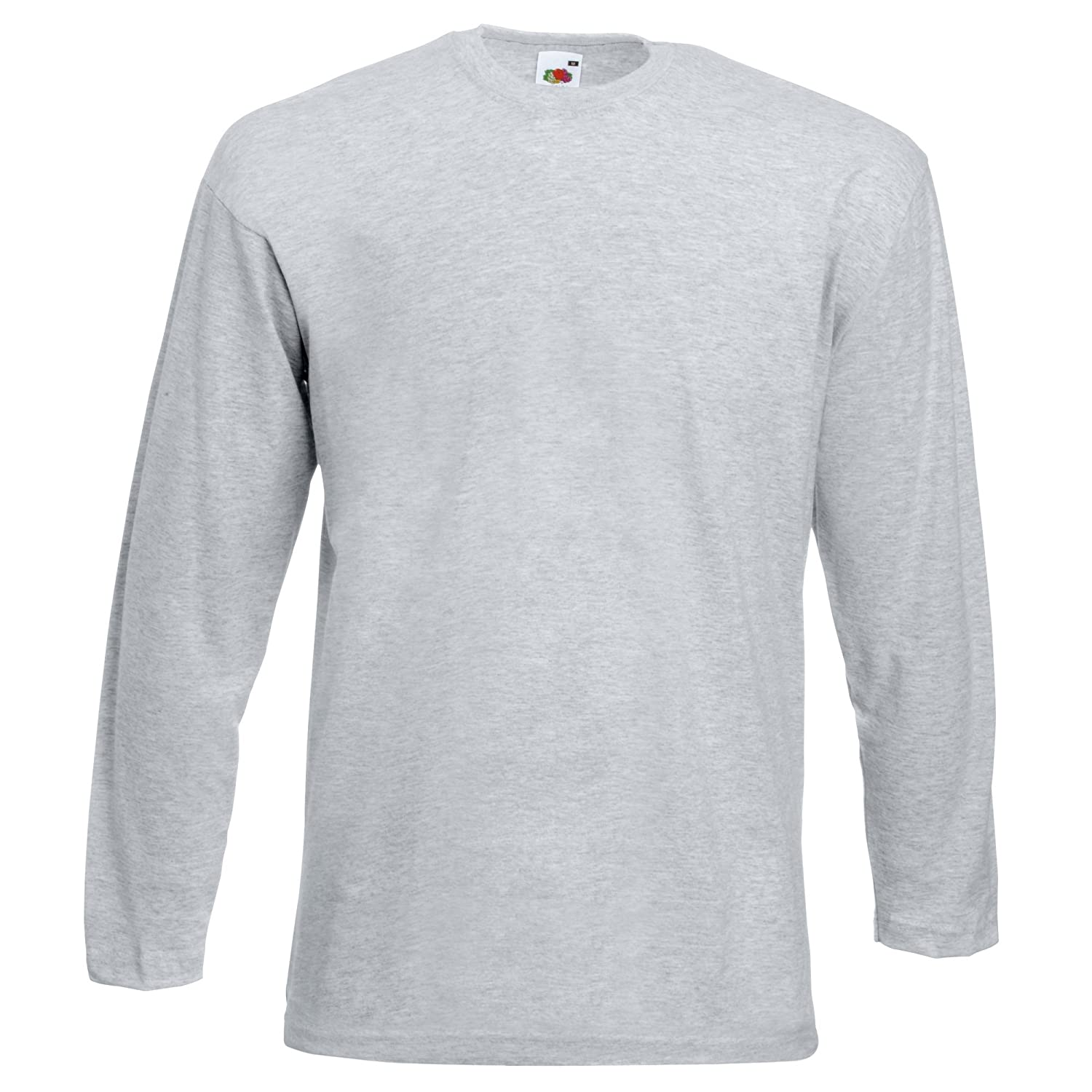 fruit of the loom mens valueweight crew neck long sleeve t shirt