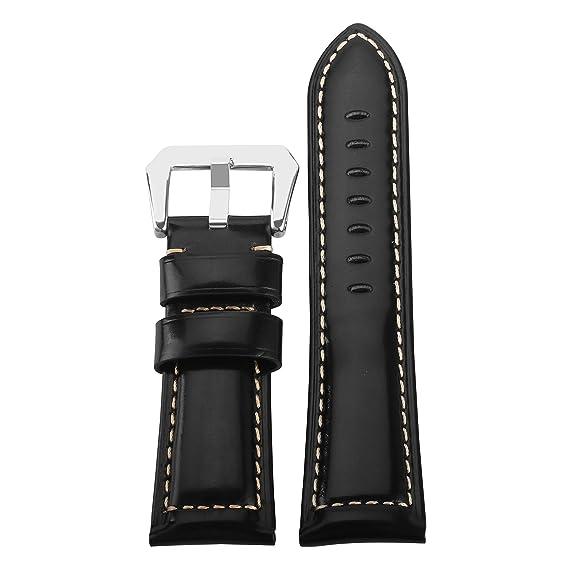 Pulseras Hombre 26mm Reloj Correa de Reloj de Cuero Compatible con Garmin Fenix 3: Amazon.es: Relojes