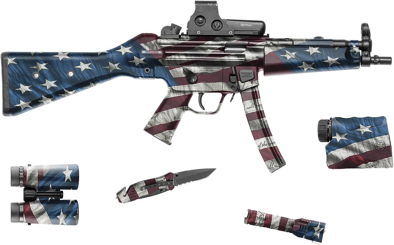 """GunSkins Tactical Gear Skin Camouflage Kit DIY Vinyl Wrap 8"""" x 50"""" Sheet"""