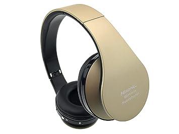 Auriculares de diadema, Hisonic auriculares inalámbrica Bluetooth Auricular Deporte plegable con Micrófono y Almohadillias de protección cómodo para Todos ...