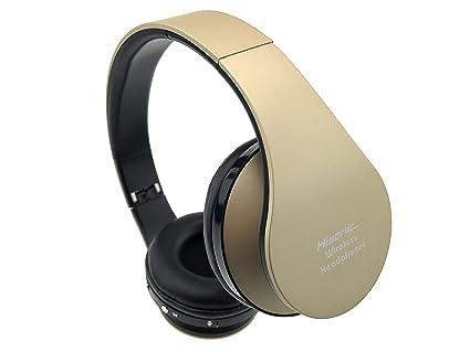 Auriculares de diadema, Hisonic auriculares inalámbrica Bluetooth Auricular Deporte plegable con Micrófono y Almohadillias de
