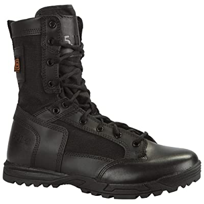 5.11 Tactical Skyweight Side Zip Boots, Ortholite Insole, 100% Full Grain Leather, Style 12318: Shoes
