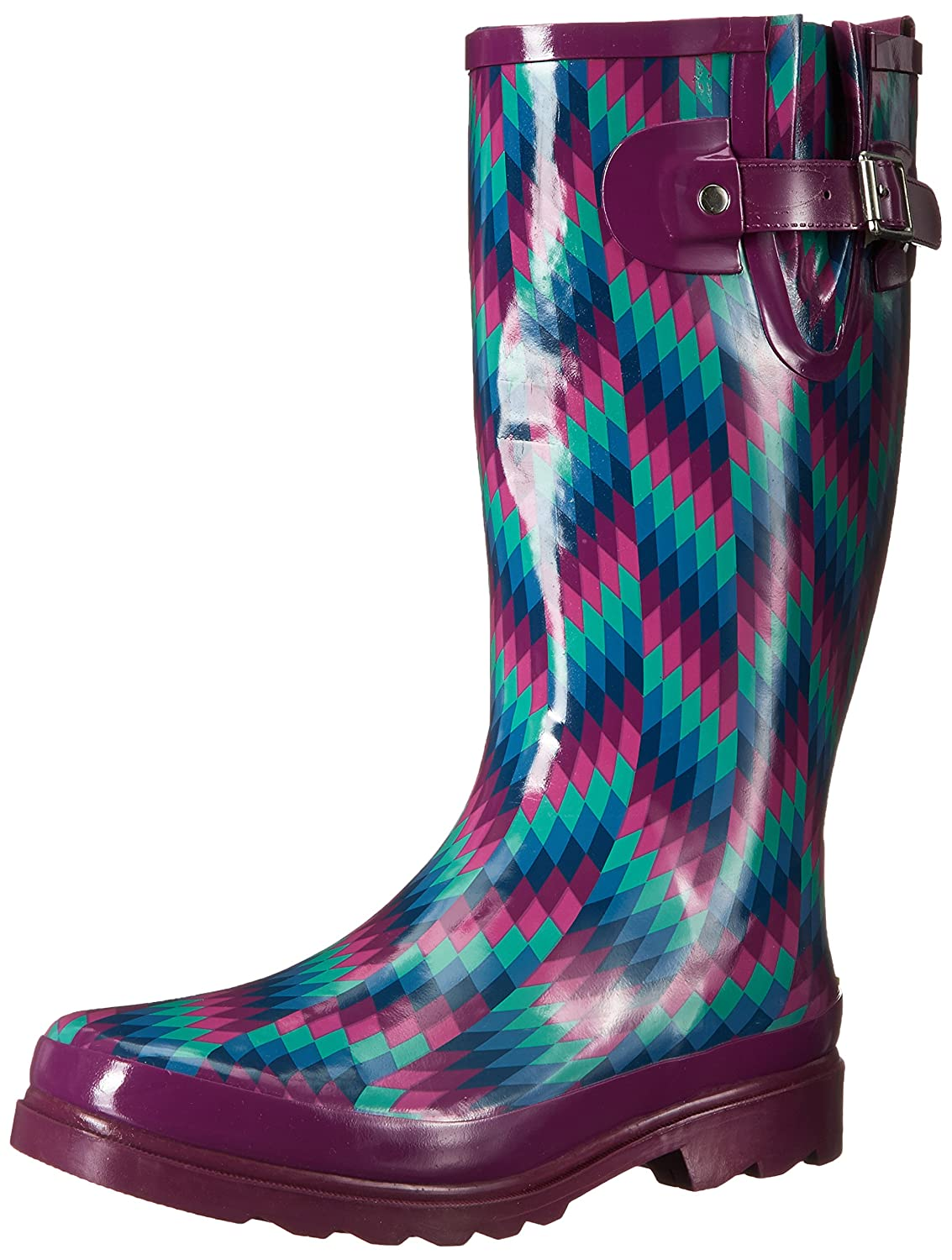 Western Chief Women's Waterproof Printed Tall Rain Boot B00VSRXDKS 11 B(M) US|Aztec Zigzag