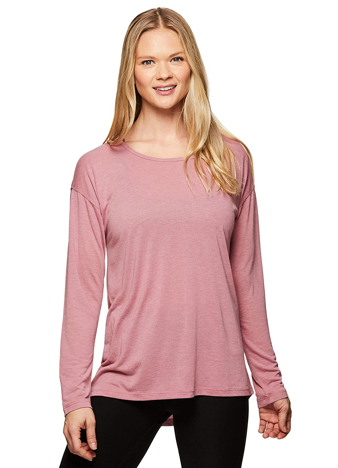 b031dc169 Amazon.com: RBX Active Women's Long Sleeve Lightweight Open Back Yoga Top:  Clothing