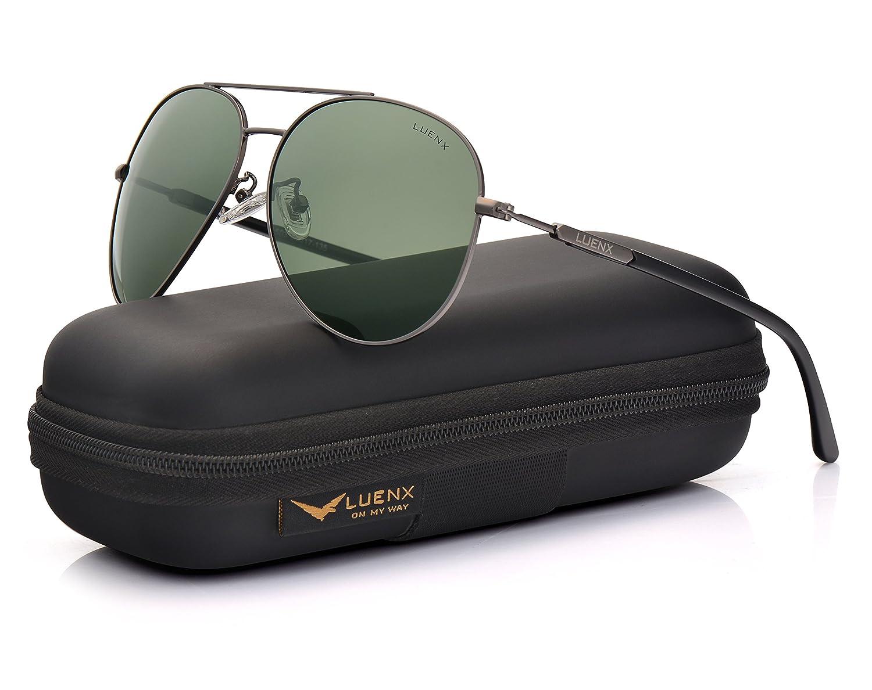 Mens Sunglasses Polarized UV 400 Protection Fashion Style by LUENX L1704-18