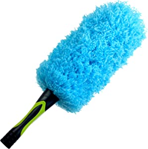 EVERSPROUT Flexible Microfiber Feather Duster | 17-inch Brush Head with Handle | Lightweight, Attracts Dust | Twists onto Standard Acme Threaded Pole | (Duster Attachment Only, No Pole)