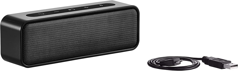AmazonBasics 9-Watt Bluetooth Stereo Speaker with Water Resistant Design - Black