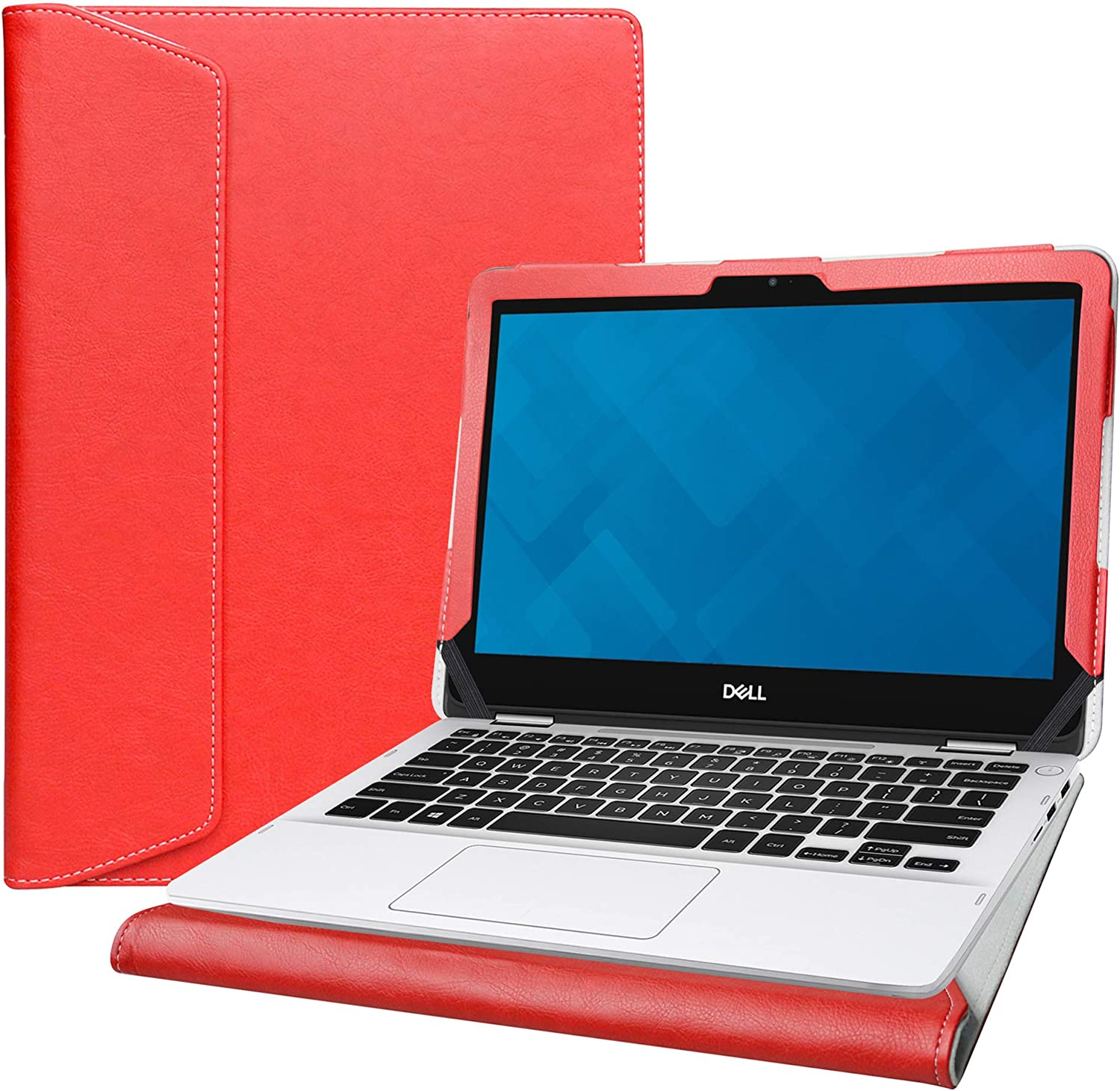 """Alapmk Protective Cover Case for 11.6"""" Dell Inspiron 11 2-in-1 3195 i3195 Series Laptop[Note:Not fit Dell Inspiron 11 2-in-1 3168 3169 3179 3185],Red"""