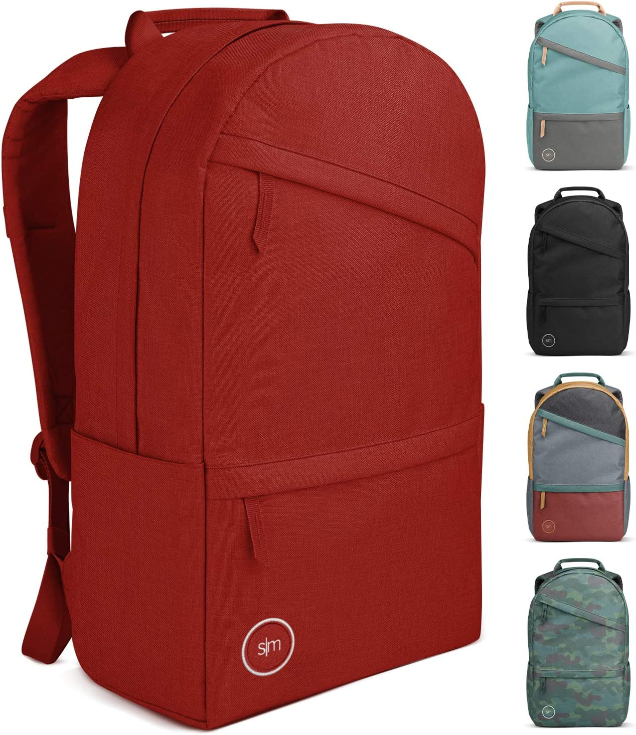 Simple Modern Legacy Backpack with Laptop Compartment Sleeve - 25L Travel Bag for Men & Women College Work School -Cherry