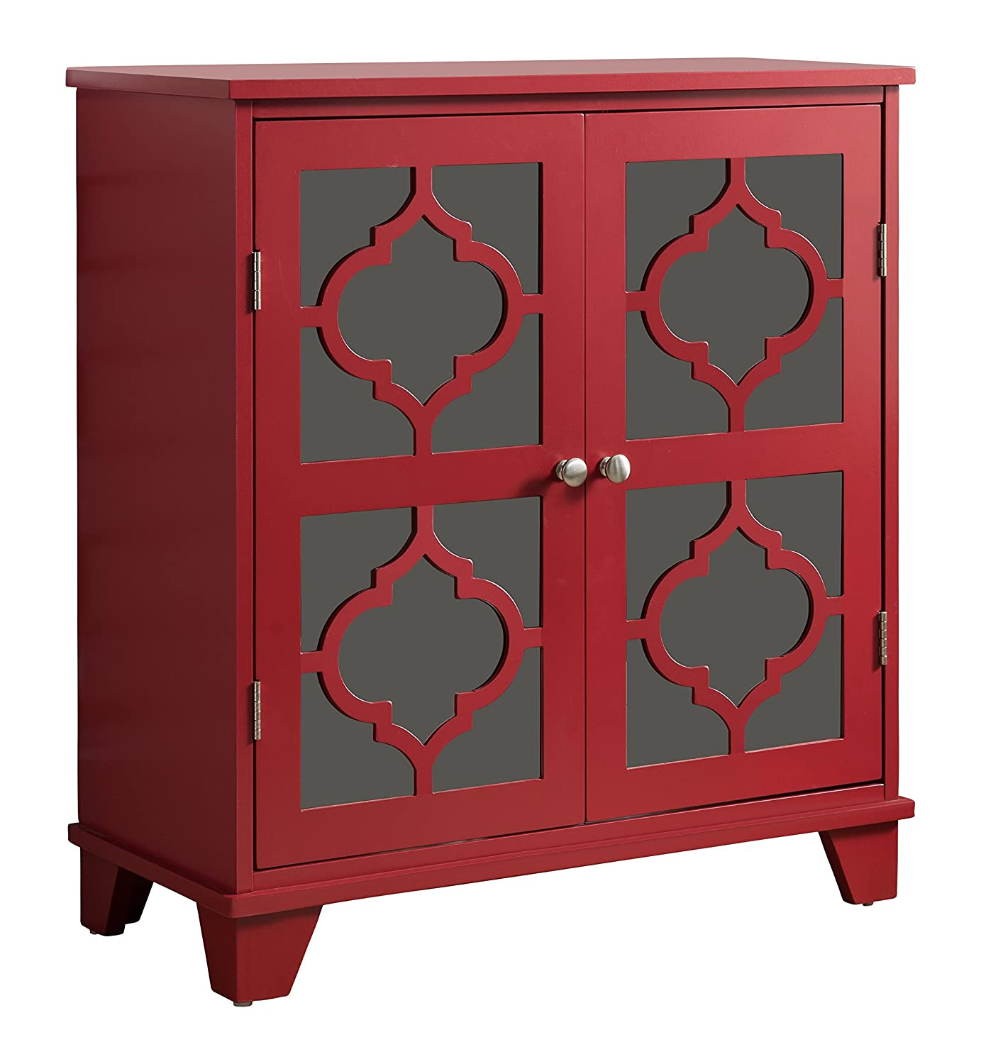 Amazon Kings Brand Furniture Red Finish Wood Buffet Cabinet