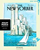 New York Puzzle Company - New Yorker Setting Sail - 750 Piece Jigsaw Puzzle