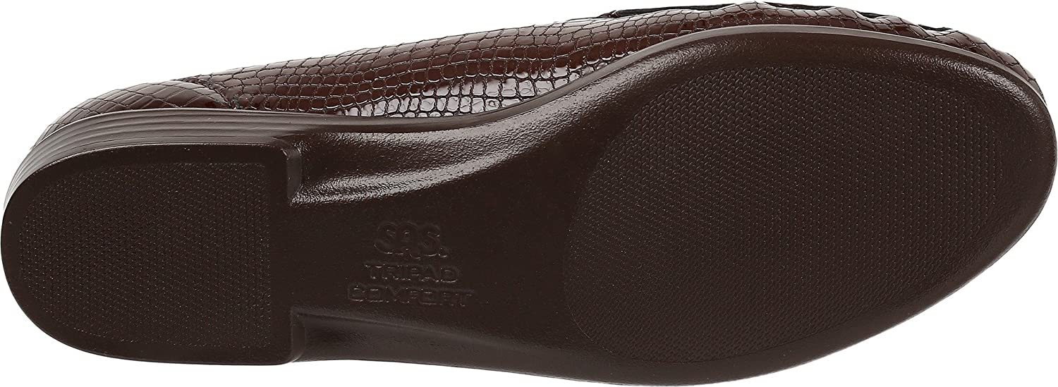 SAS Simple Women's Slip On Leather - Loafer B01MDPI8JM 6.5 S - Leather Slim (AAA) US|Brown Croc 3669e9