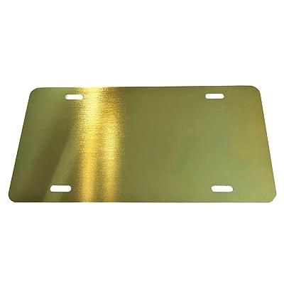 Partsapiens Corp. Anodized Aluminum License Plate Blank Heavy Gauge .040 (1mm) - 12x6: Automotive