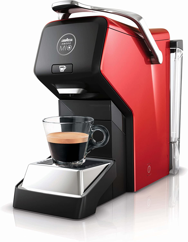 Lavazza A Modo Mio - Cafetera de cápsulas, 1200 W, color rojo: Amazon.es: Hogar